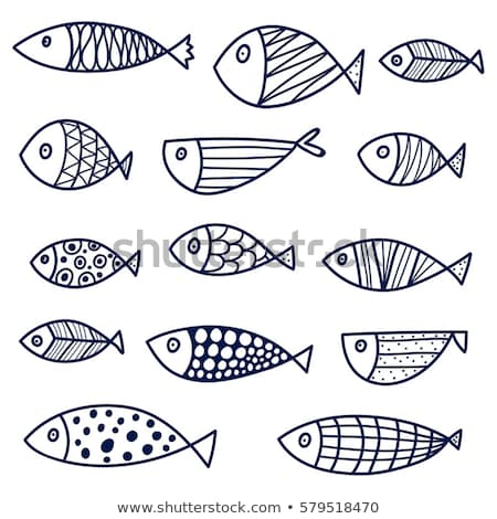 doodle · poissons · croquis · excellente · eps · 10 - photo stock © netkov1