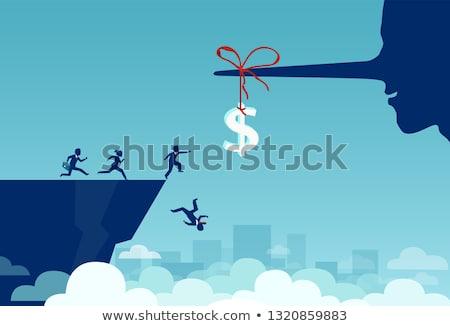 Kapzsiság vonzó nő kapzsi boglya pénz papír Stock fotó © feverpitch