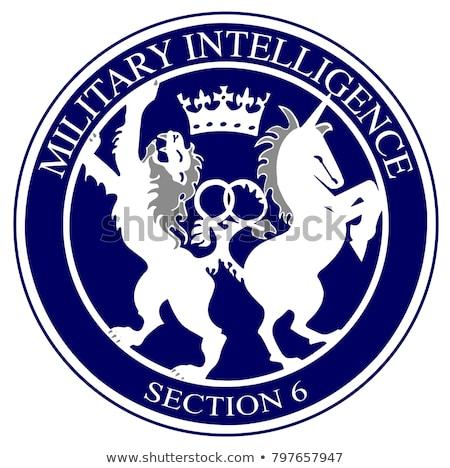 Logo británico militar inteligencia dibujo Inglaterra Foto stock © Bigalbaloo