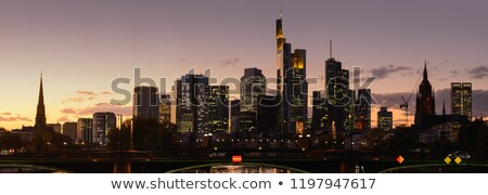 Francoforte sul Meno skyline notte lungo esposizione Foto d'archivio © unkreatives