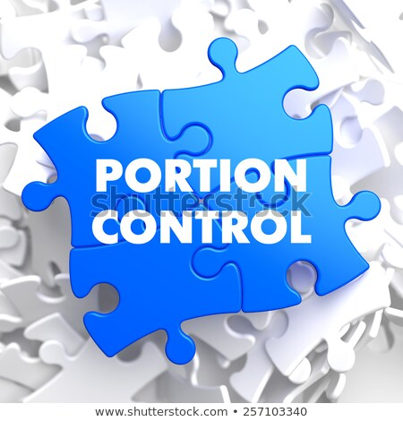 Portion Control on Blue Puzzle. Stock photo © tashatuvango