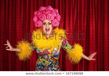 Rainha amarelo vestir branco mulher Foto stock © Discovod
