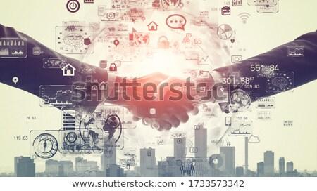 Tecnologia da informação computador colagem negócio internet Foto stock © Paha_L