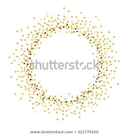 abstract golden confetti frame stock photo © gladiolus