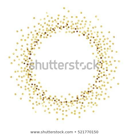 Résumé or confettis cadre texture fond Photo stock © gladiolus