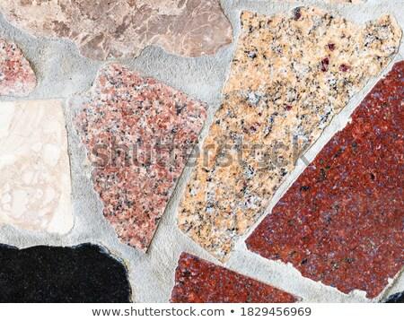 polie · granit · texture · blanche · noir - photo stock © Onyshchenko