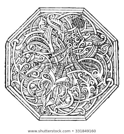 Islamic art or Arabesque pattern artwork. Vintage engraving. Stock photo © Morphart