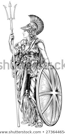 Grieks zwaarden vintage gegraveerd illustratie encyclopedie Stockfoto © Morphart