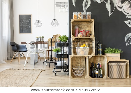 Modern wine storage shelves Stock photo © jrstock