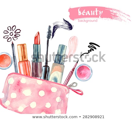 Fashion Illustration background - Beauty bag with make up and cosmetics  Stock photo © gigi_linquiet