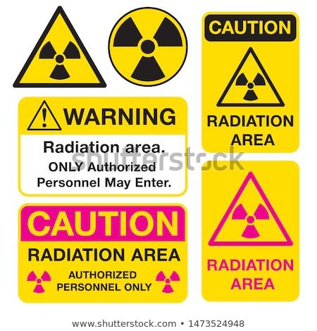Cautela radioattivo segno radiazione giallo nero Foto d'archivio © Bigalbaloo