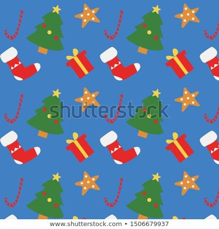 cute warm color christmas card eps 8 stock photo © beholdereye