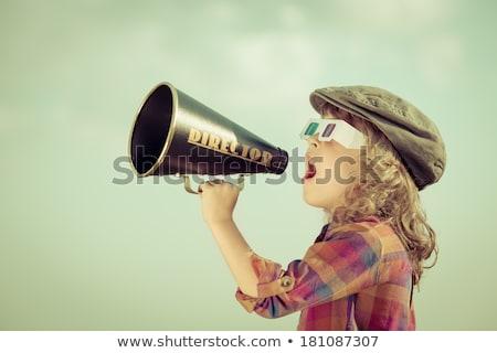 3D Film director talking on a megaphone Stock photo © texelart
