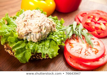 atum · sanduíche · pão · alface · aipo - foto stock © digifoodstock
