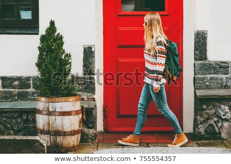fashionable teenagers walking stock photo © bluering