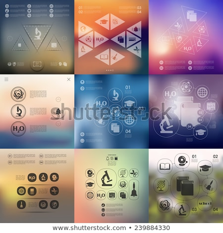 A colourful infochart Stock photo © bluering
