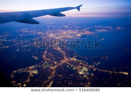 window in airport at night stock photo © ssuaphoto