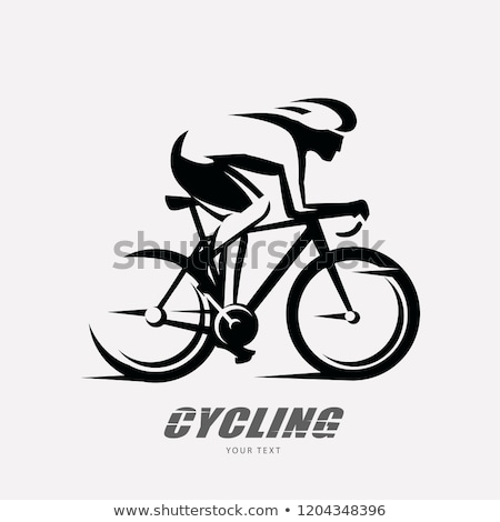 A sketch of a cyclist Stock photo © bluering