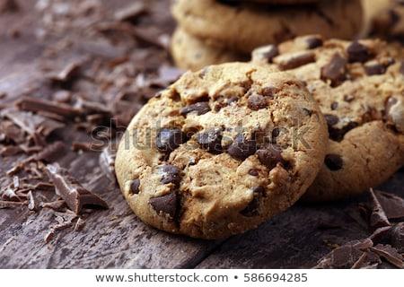 çikolata · yonga · kurabiye · yalıtılmış - stok fotoğraf © stevanovicigor