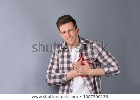 człowiek · bolesny · żołądka · ilustracja · twarz · włosy - zdjęcia stock © bluering
