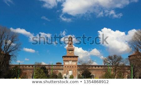 Entrada milan Itália cidade castelo arquitetura Foto stock © AndreyKr