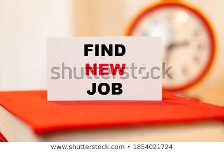 Clock and word Find a Job Stock photo © fuzzbones0