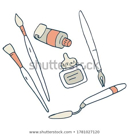 caneta-tinteiro · realista · ilustração · elegante · negócio · caneta - foto stock © adrian_n