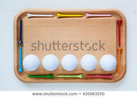 Empty cutting board with different golf tees Stock photo © CaptureLight