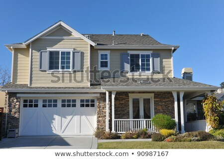 A two-story single detached building Stock photo © bluering