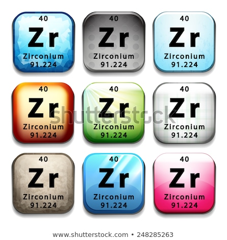 a button showing the chemical element zirconium stock photo © bluering