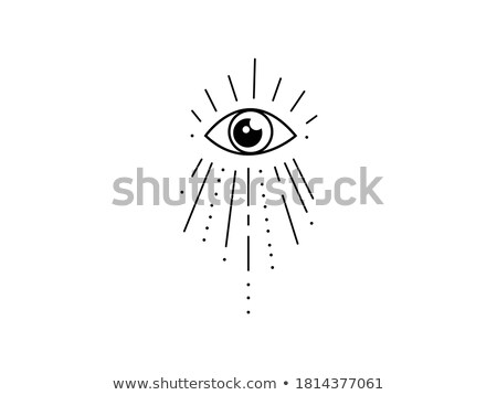 Stock photo: Human eye symbol inside a pyramid