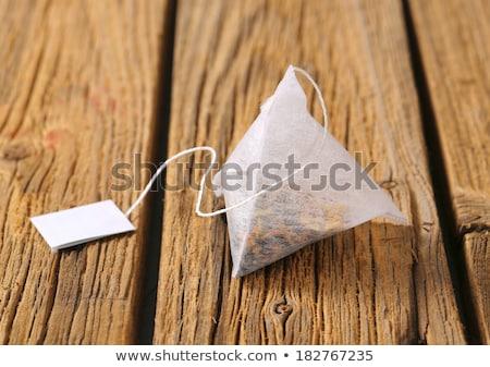 zöld · tea · yin · yang · kínai · kalligráfia · kézírás - stock fotó © digifoodstock