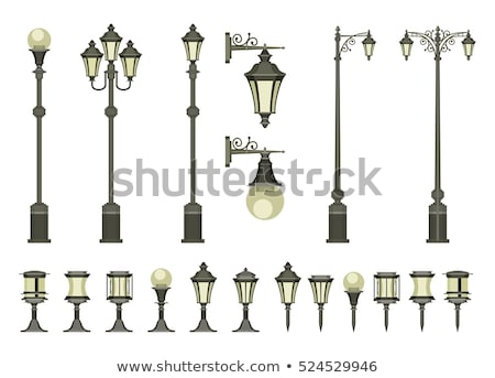 street lamps illuminating garden stock photo © zurijeta