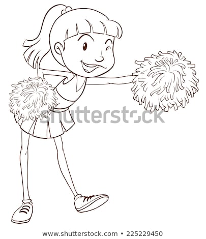 A plain sketch of a cheerer with pompoms Stock photo © bluering