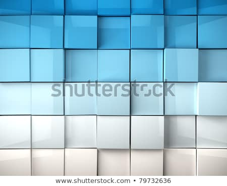 blue metallic cubes background stock photo © andreasberheide