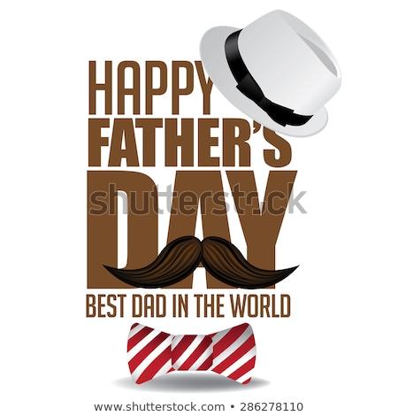 mutlu · baba · gün · kart · bıyık · eps - stok fotoğraf © beholdereye