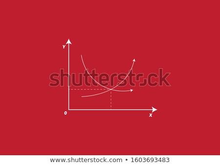 поставлять спрос clipart изображение графа стороны Сток-фото © vectorworks51