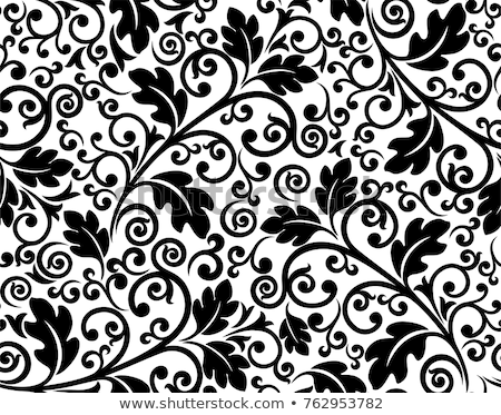 Vector Seamless Black and White Mosaic Lace Pattern stock photo © CreatorsClub