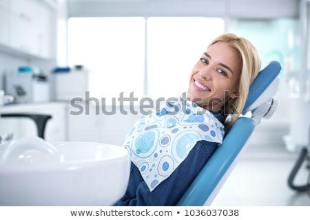 Elégedett boldog női beteg kórház iroda Stock fotó © stevanovicigor