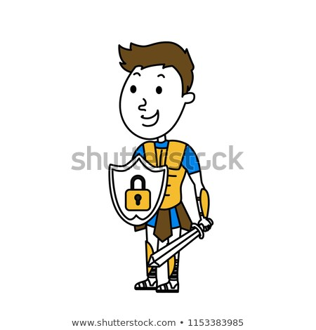 ridder · paardenrug · karakter · pantser · helm · middeleeuwse - stockfoto © bluering