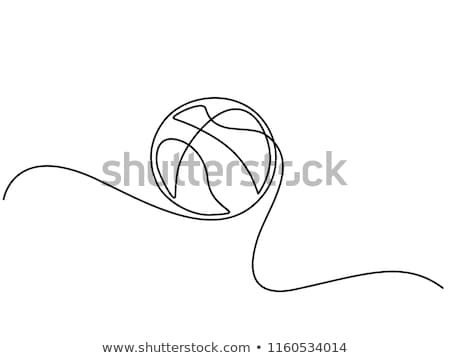 баскетбол линия дизайн логотипа мяча трофей Элементы Сток-фото © kali