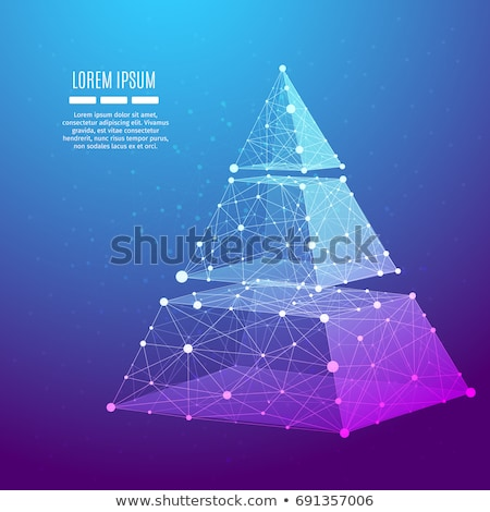 abstract polygonal mesh diagram design background Stock photo © SArts