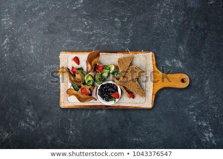 ciruela · baguette · jar · pieza · vidrio · frescos - foto stock © Digifoodstock