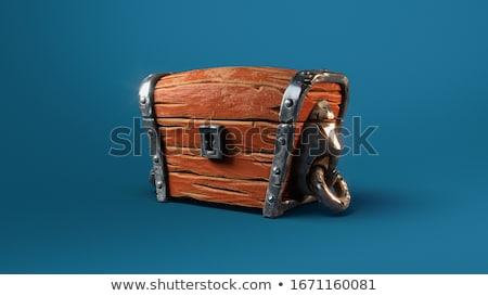 胸 · ヴィンテージ · お金 · 木材 · ボックス · 石 - ストックフォト © elenarts