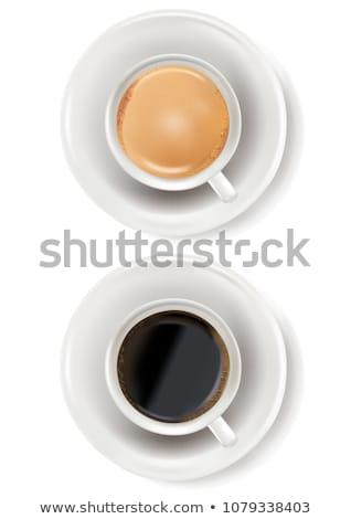 café · desayuno · iconos · blanco · vector · alimentos - foto stock © kurkalukas
