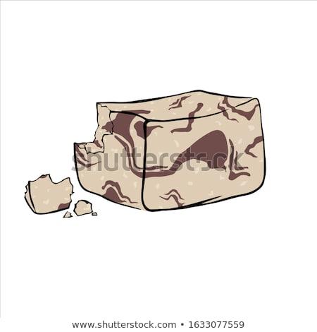 Csokoládé íz márvány szezám étel cukorka Stock fotó © Digifoodstock