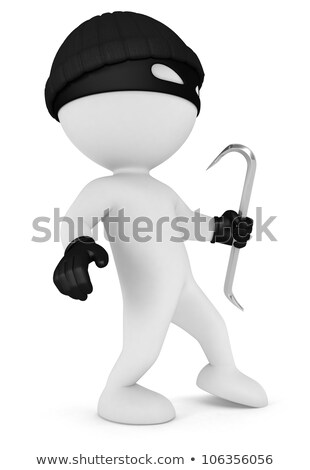 3d small people   thief with safe stock photo © anatolym