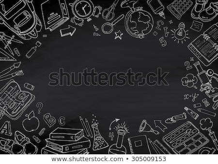 Chalkboard - School illustration background stock photo © orson