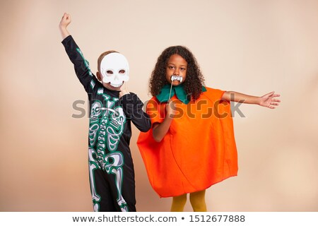 Two boys in halloween costume on stage Stock photo © bluering