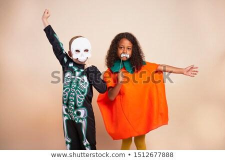 criança · vampiro · traje · halloween · ilustração · criança - foto stock © bluering